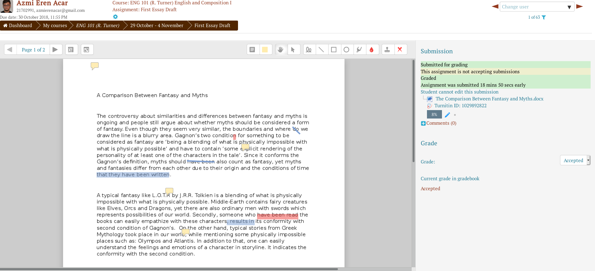 Giving Feedback on Assignments with the Advanced PDF Editor – Moodle
